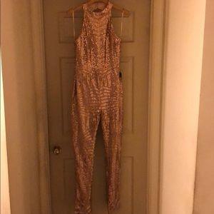 Rose Gold Sequin Jumpsuit